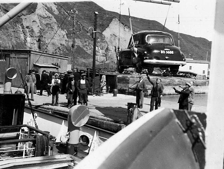 St. Ola II unloading in Scrabster.