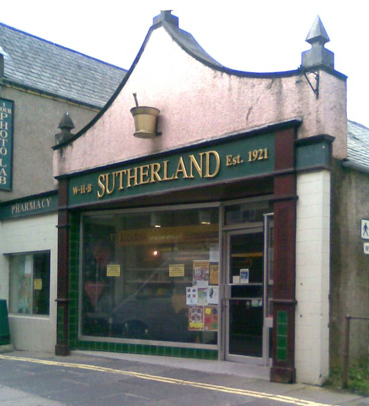 WHB Sutherland old shop