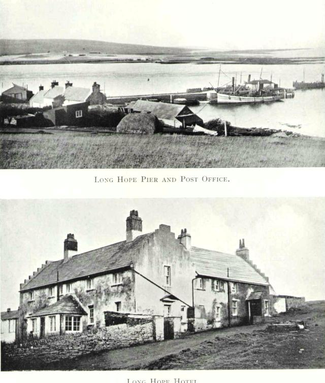 Long Hope pier, post office and hotel