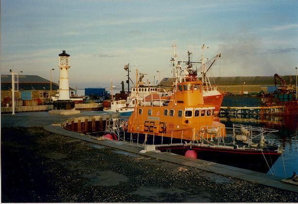 Visiting lifeboat in Kirkwall Basin