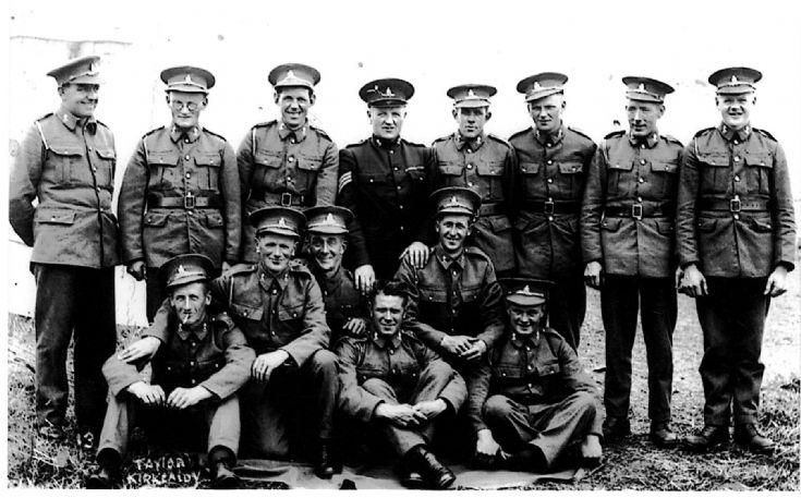 Stronsay men at TA camp 1939