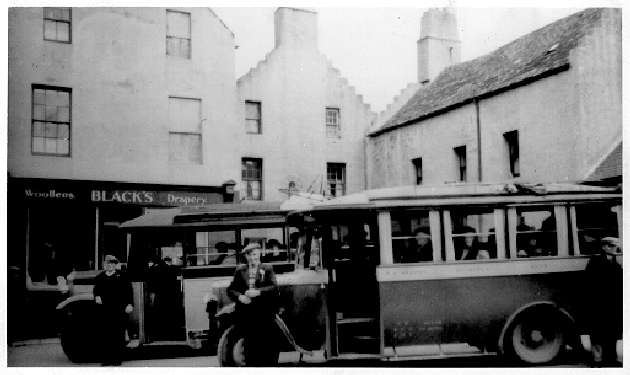 Buses at Spence's 1930's