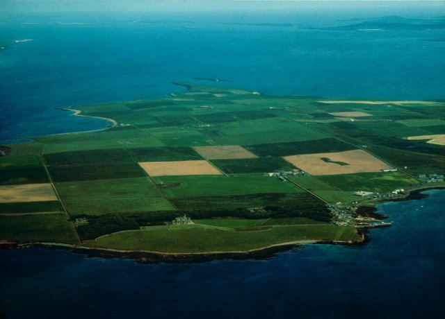 Shapinsay from the air