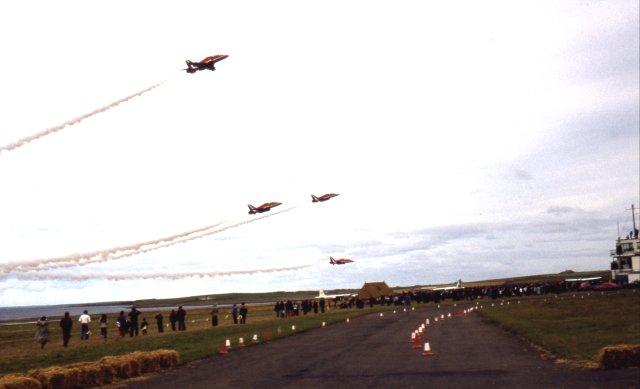 Red Arrows at Kirkwall Air Show