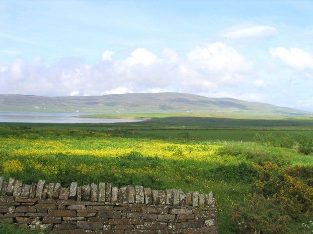 June 2004, looking towards Rousay from Evie
