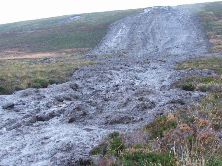 Landslide aftermath