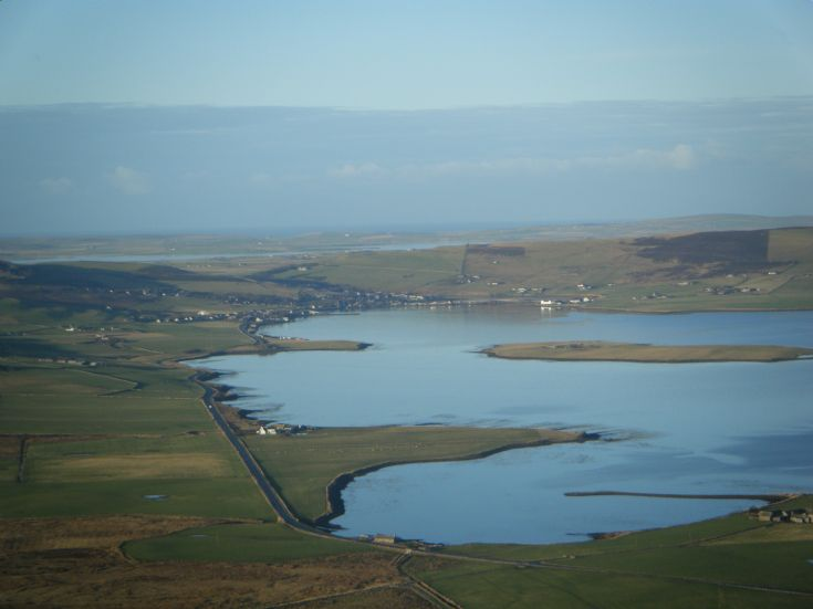 View over Finstown from Wideford hill
