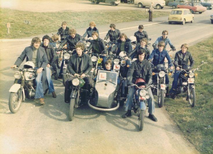 Sunday Motor bike run 1978