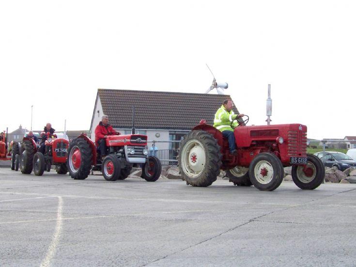 Vintage tractors visit Westray 2009