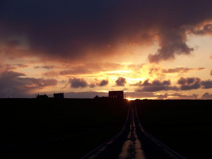 Westray sunset, June 2009