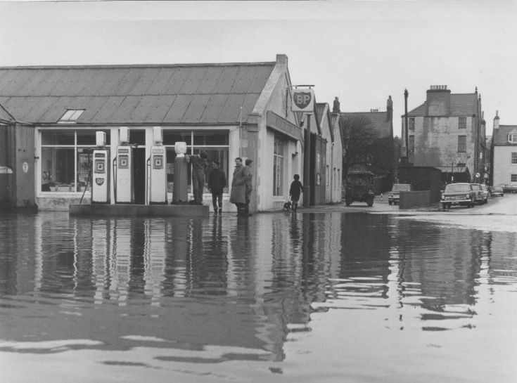 Flooding in Junction Road Kirkwall 1968 or 69, 2/2