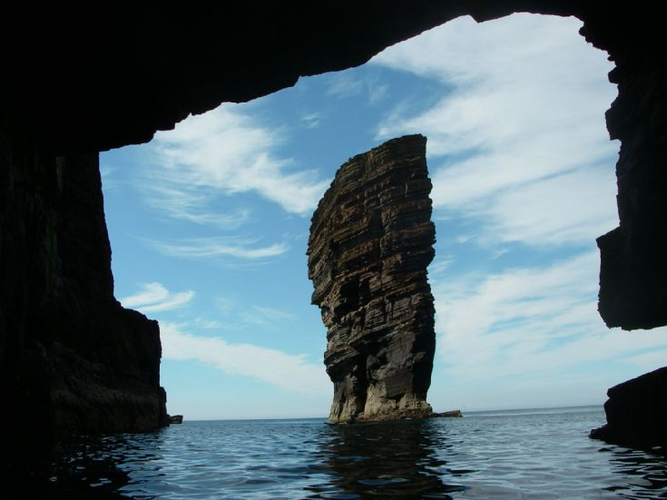 stack from inside a cave