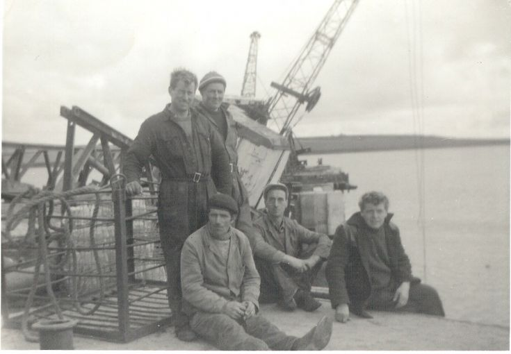 Construction men at Shapinsay pier