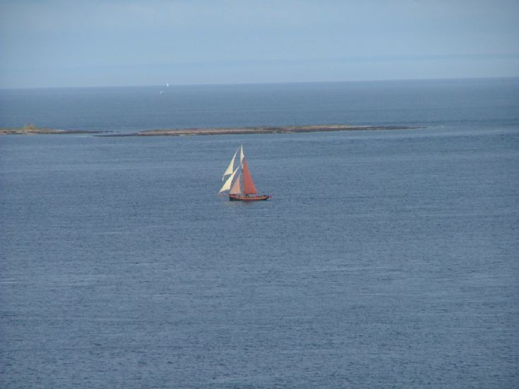 sailing boat passing eday 24th aug