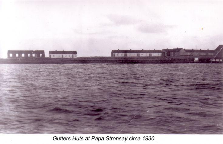 Gutters' huts at Papa Stronsay