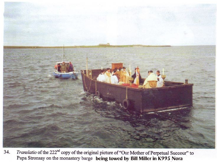 Monks barge towed by Nora