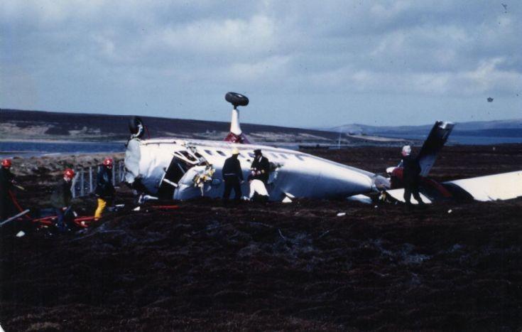 Flotta plane crash