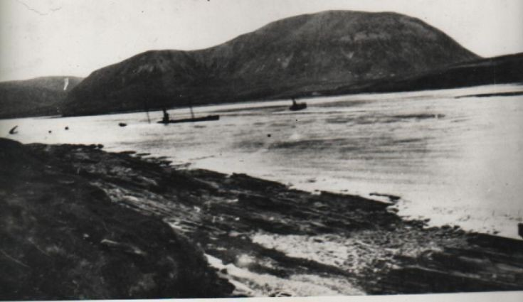 Block ships in Burra Sound
