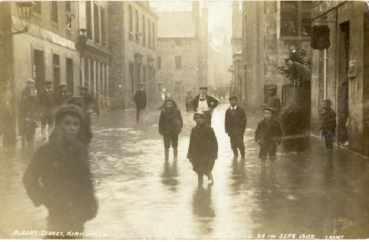 Flood in Albert Street, Kirkwall.