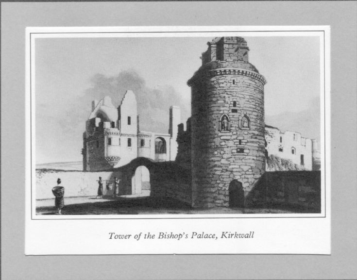 Daniell print of Bishop's Palace