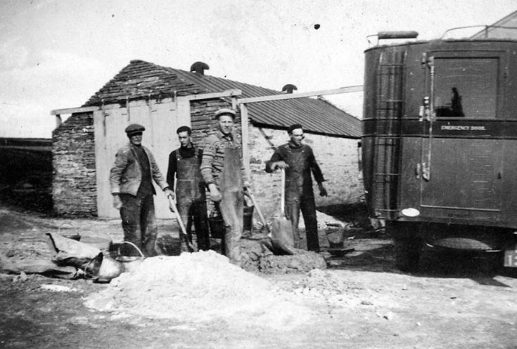 Workers in Finstown