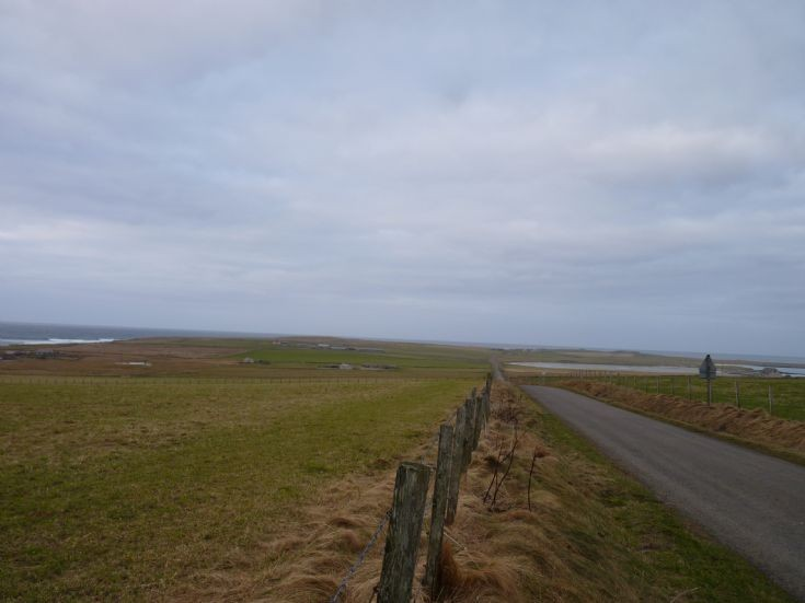 Monthly changes Westray. January 2011