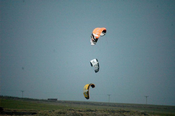 Kite surfers x 3