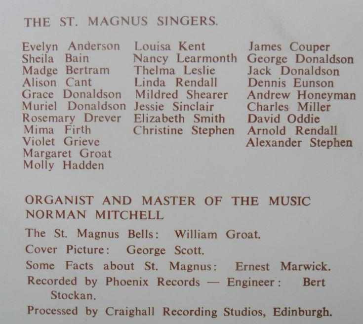 The back of Music in St Magnus
