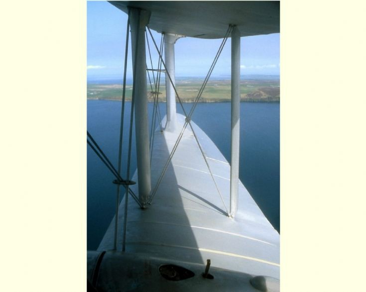 Over Scapa Flow in the DH Dragon Rapide