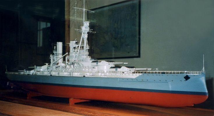 Model of German warship 'Baden'