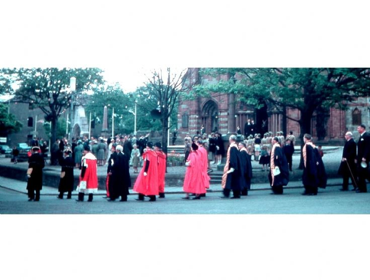 Dignitaries on parade in about 1960