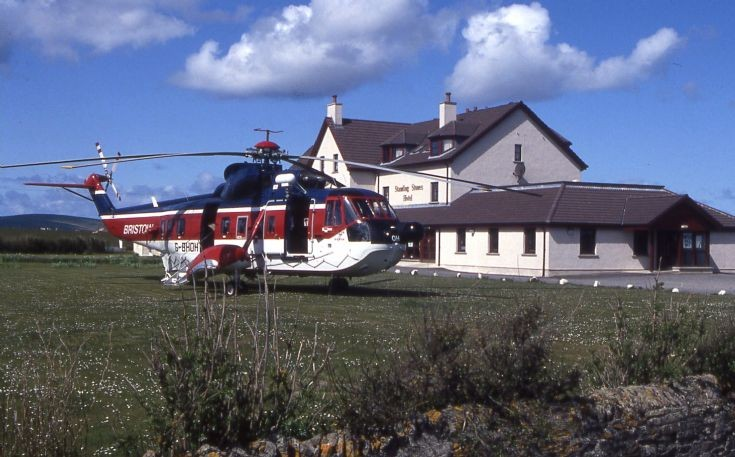 Helicopter at Standing Stones