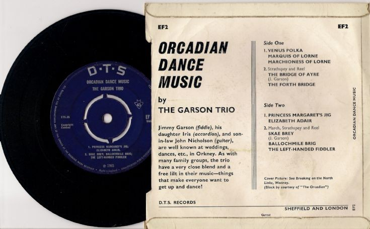 Side 2 of The Garson Trio E.P