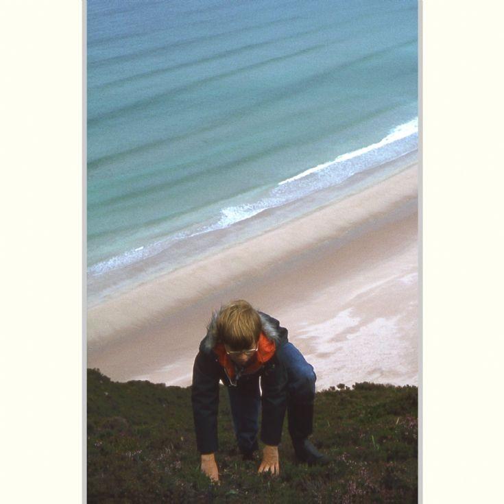Climbing Mel Fea, Rackwick, 1979
