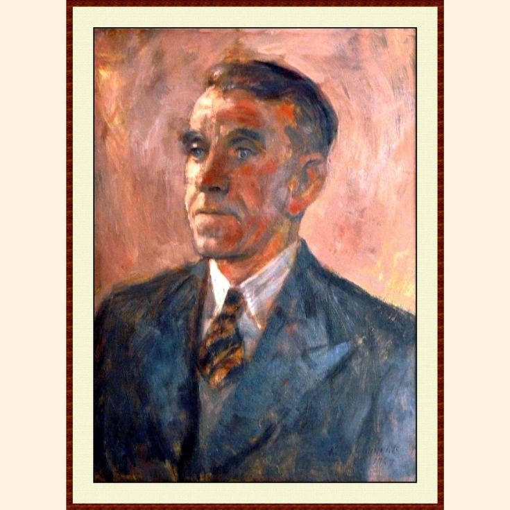 Robert Kelday portrait in oils by Keith Clements