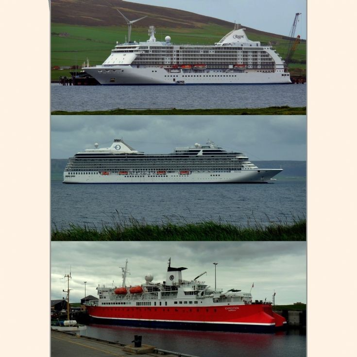 Three cruise ships, Orkney 10 June 2012