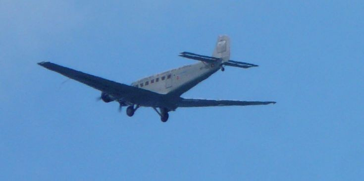 Old plane over Kirkwall