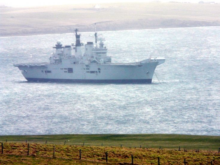 HMS Illustrious in Scapa