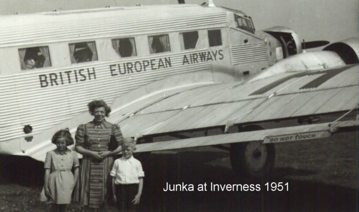 First flight in a Junkers