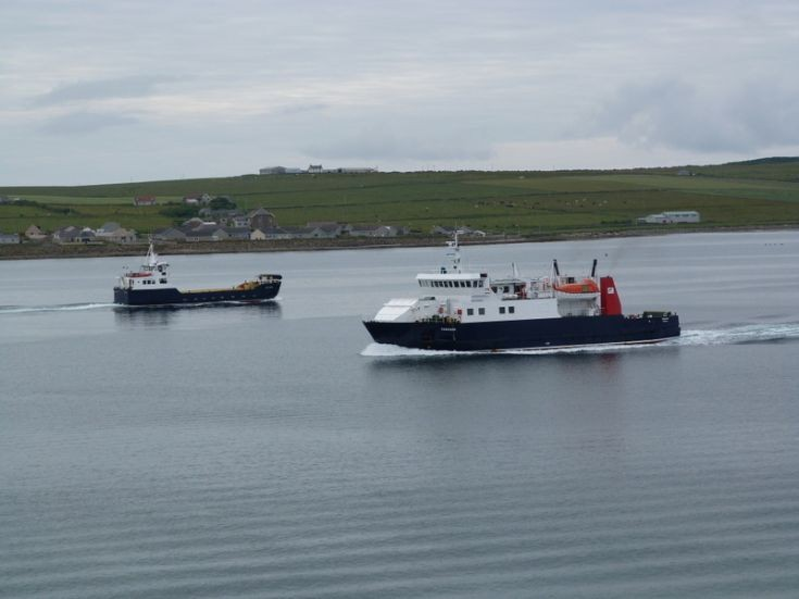 Varagen and Shapinsay seen from Queen Elizabeth