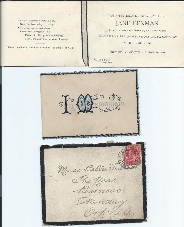 Funeral notice of Jane Penman