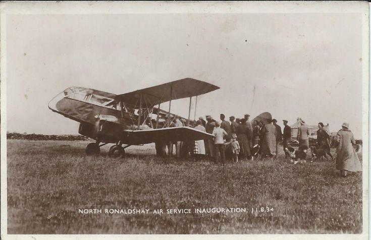 North Ronaldsay air service inauguration