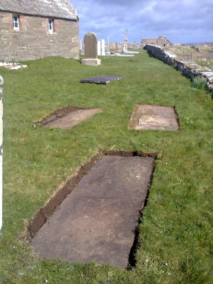 Cleared stones beside Moodie Mausoleum
