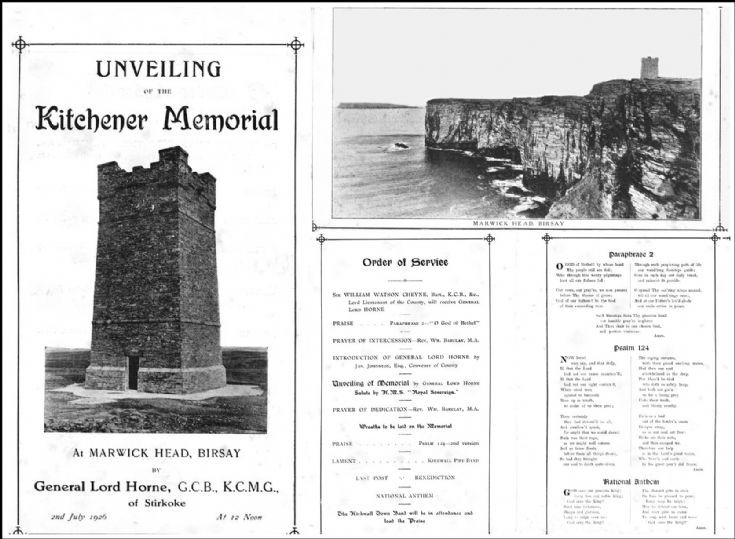 Unveiling of the Ktchener Memorial