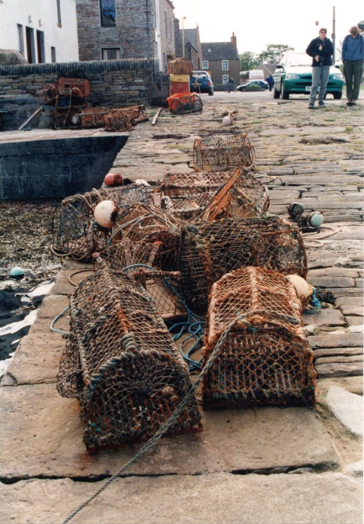 Lobster pots, St Margaret's Hope