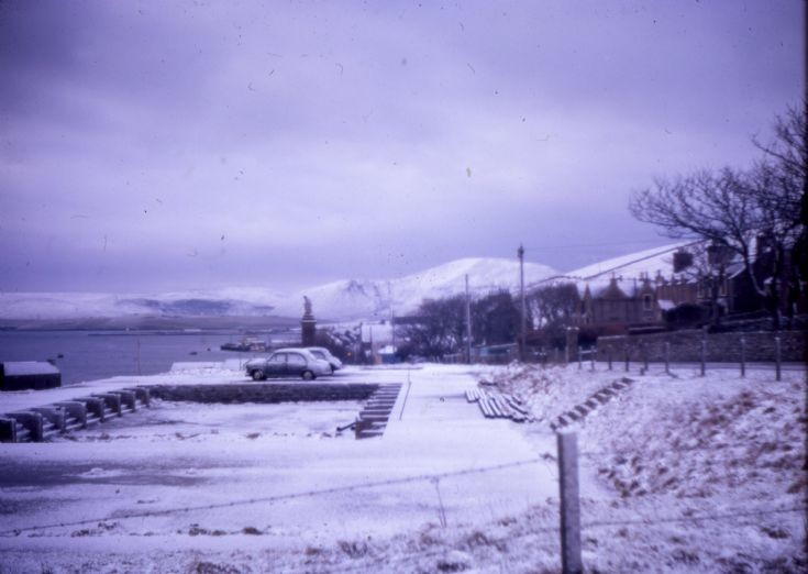 Stromness in the snow 1960