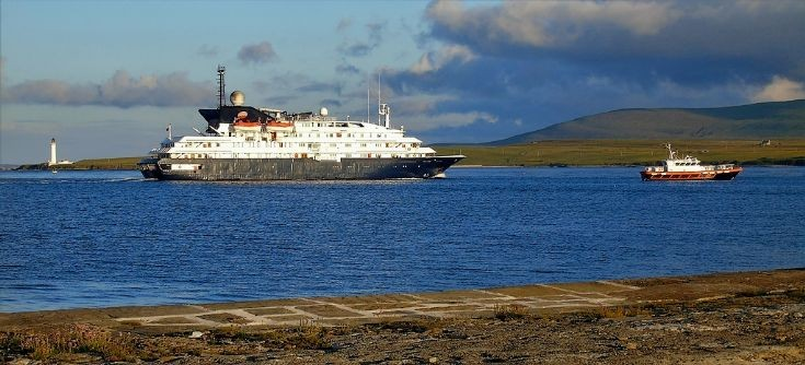 Corinthian departing Stromness