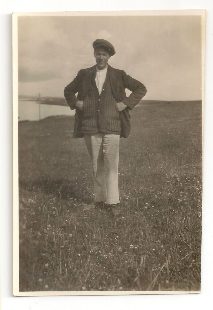 Mystery gent in a field