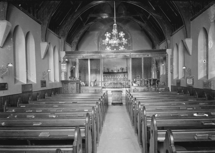 Inside St Olaf's church after addition of tower