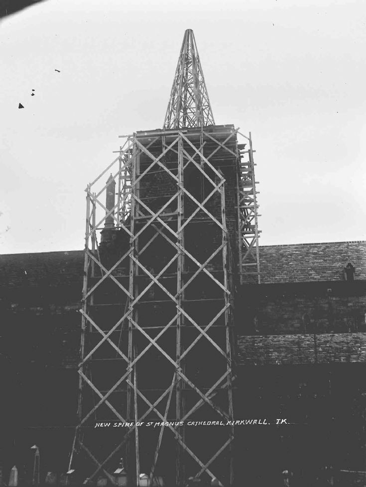 Construction of new cathedral spire
